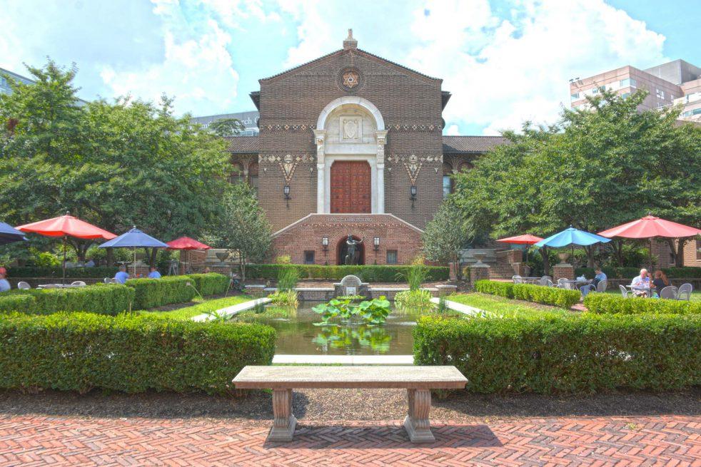 The Penn Museum Stoner Courtyard.